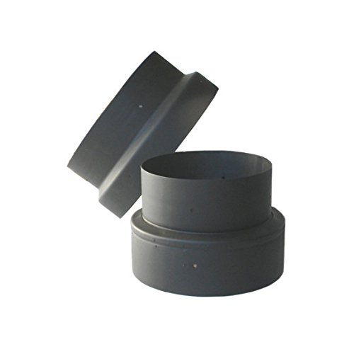 5in. to 6in. Single Wall Black Stove Pipe Increaser / Reducer (Black Stove Pipe Adapter compare prices)