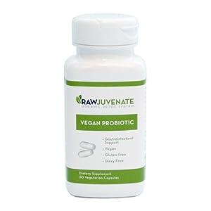 Raw Green Organics Rawjuveante Vegan Probiotics Supplement, 0.25 Pound