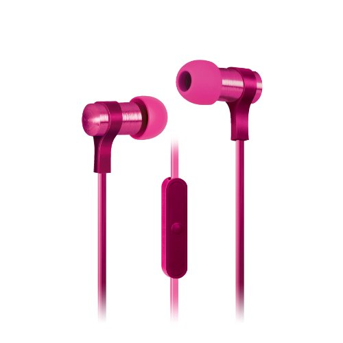 Urban Beatz 2-Tone Flat Cable Earbuds With Mic - Pink (Ub-Em400-652)