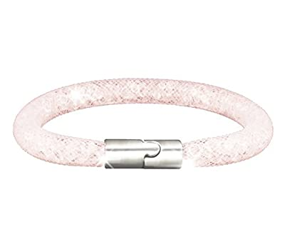 New Ice Crystal Mesh Bracelet in Peach
