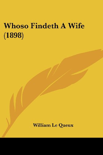 Whoso Findeth a Wife (1898)