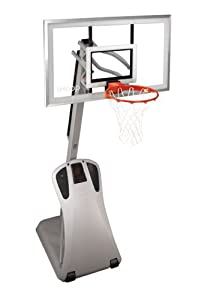 "Spalding IP556 iHoop Portable Basketball System - 54"" Glass Backboard"
