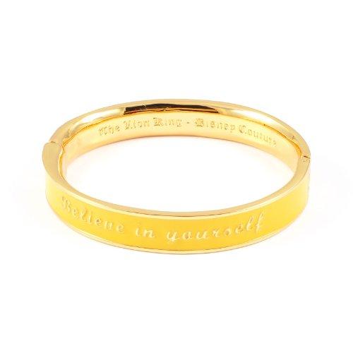 """Lion King Disney Couture-Collana placcata oro, """"Believe in Yourself"""" Braccialetto, colore: giallo"""