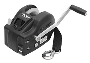 Fulton Trailer 2-Speed Winch, 2600-Pound with 20-Feet Strap, Black Cover