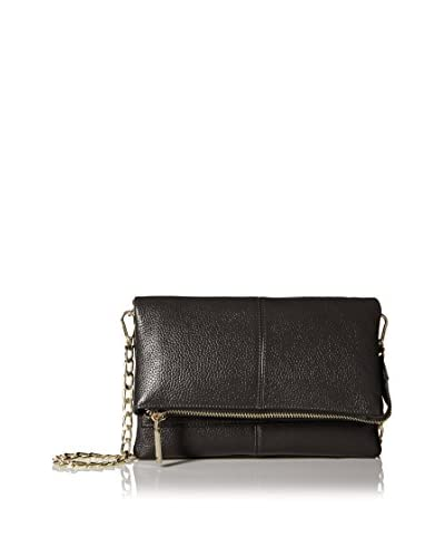 Zenith Women's Small Flap Cross-Body with Chain Strap, Black