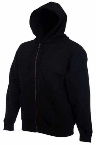 Mens Full Zip Hooded Sweatshirt Jackets Sizes XS to 3XL - HOODIE WORK CASUAL SPORT (XL - EXTRA LARGE, GREY / HEATHER)