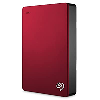 Seagate Backup Plus 4TB Portable External Hard Drive with 200GB of Cloud Storage USB 3.0, Red (STDR4000902)