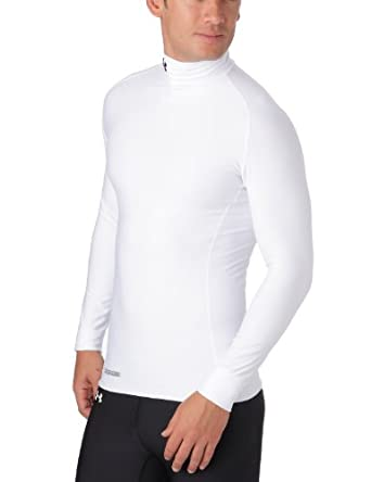 Under Armour Men's ColdGear® Evo Long Sleeve Compression Mock Small White