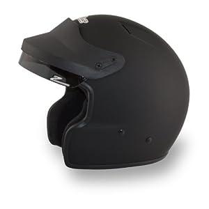 Zamp H71503FL JA-2 Open Face Helmet, Matte Black, Large