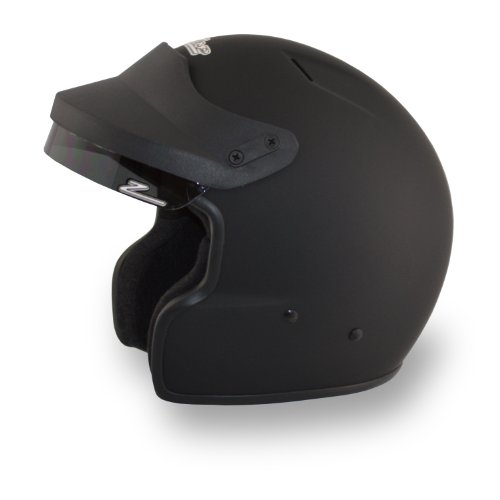 Zamp H71503FM JA-2 Open Face Helmet, Matte Black, Medium