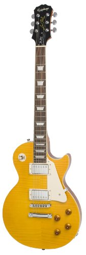 Epiphone LP Standard Plus-Top Les Paul Collection Electric Guitar, Trans Amber