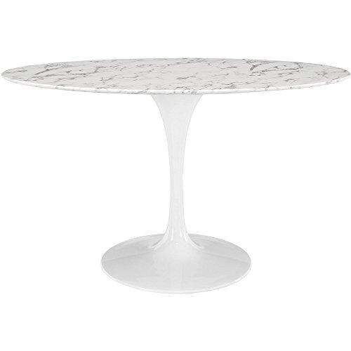 Nice White Eero Saarinen Tulip Inch Oval Marble Dining Table FMP