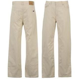 Pierre Cardin Bedford Cord Trousers Mens Ivory 34W R