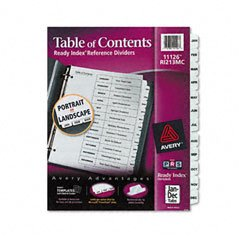 AVE11126 - Avery Ready Index Classic Tab Titles