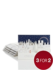 5 City Scene 3D Christmas Multipack of Cards