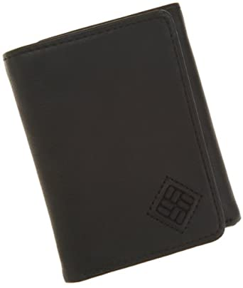 Columbia Men's Tri Fold Wallet,Black,One Size