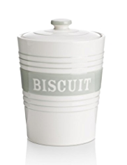 Striped Biscuit Storage Jar