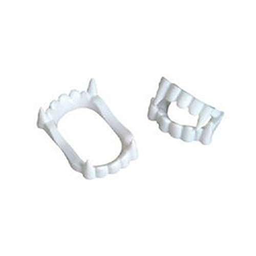12 White Vampire Fangs, Plastic Teeth, Costume Accessory Party Favors