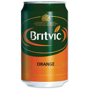 Britvic Orange Juice Pure Can 330ml Ref A02100 - Pack 24