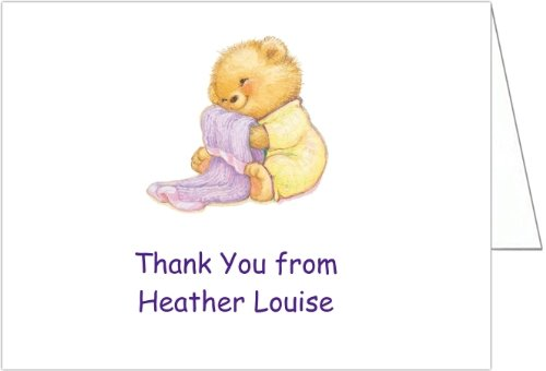 Soft & Cuddly Yellow Baby Thank You Cards - Set Of 20 front-1018002