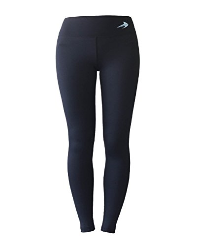 Women's Compression Pants (Black - XL) Best Full Leggings Tights for Running, Yoga, Gym by CompressionZ (Mens Thermal Leggins compare prices)