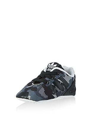 adidas Zapatillas ZX Flux Neonato Crib (Negro / Gris)