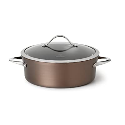 Calphalon Contemporary Dishwasher Safe Dutch Oven, Nonstick Bronze Anodized Edition, 5-Quart