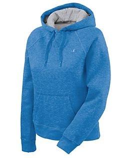 Champion Womens Eco Fleece Hoodie, Energy Blue Heather, Large