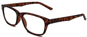 The Investigators, Sharp Looking Wayfarer Reading Glasses for Both Men & Women/Tortoise/2.50