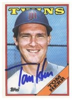 Tom Herr Minnesota Twins 1988 Topps Autographed Hand Signed Trading Card. by Hall+of+Fame+Memorabilia