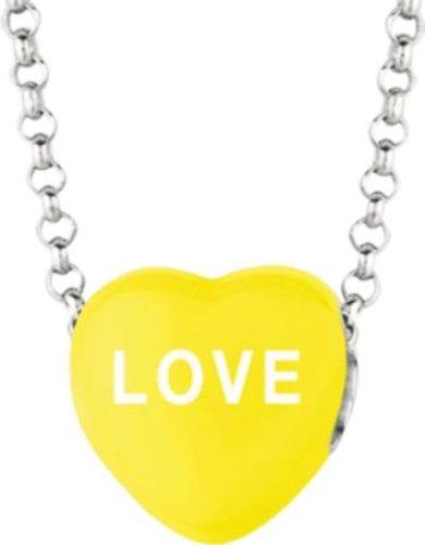 Sweethearts Yellow Enamel Love Heart on 16-inch