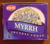 Myrrh - Case of 12 Boxes, 10 Cones Each - HEM Incense From India
