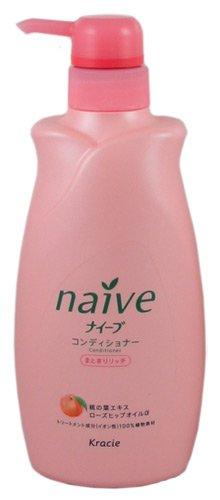 KRACIE Naive Conditioner Peach Pump Moist, 0.5 Pound (Aloe Juice Market America compare prices)