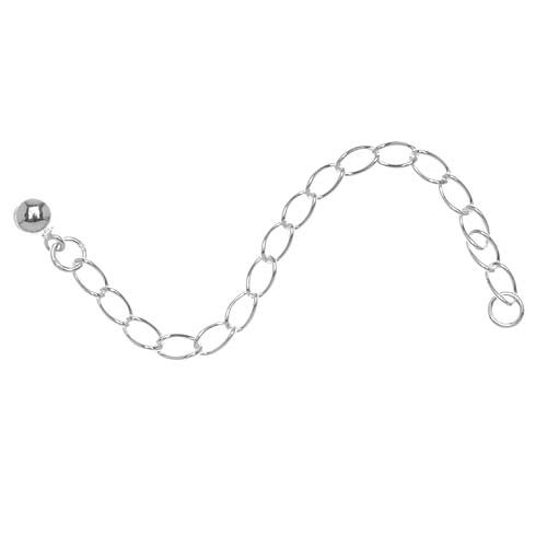 Sterling Silver 3mm Curb Chain Necklace Extender - 3 Inches (1)