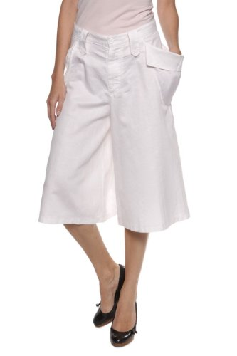 Coming soon by Yohji Yamamoto Bermuda Shorts FLY , Color: Cream, Size: 34