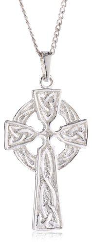 Silver Large Celtic Cross Pendant with 46cm Chain