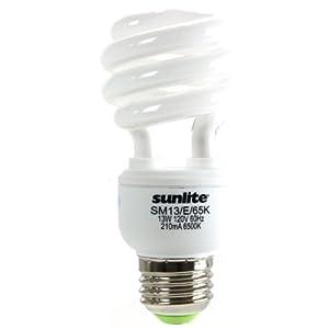 Sunlite SM13/E/65K 13 Watt Mini Spiral Energy Star Certified CFL Light Bulb Medium Base Daylight at Sears.com