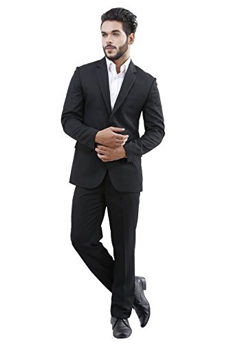 La MODE Men's Black Blazer(LA02118_B63280/151-40)