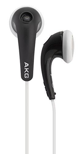 AKG Y16A Auricolari Leggeri con Controllo Volume iOS e Microfono, Compatibili con Dispositivi Apple iOS e Android, Nero