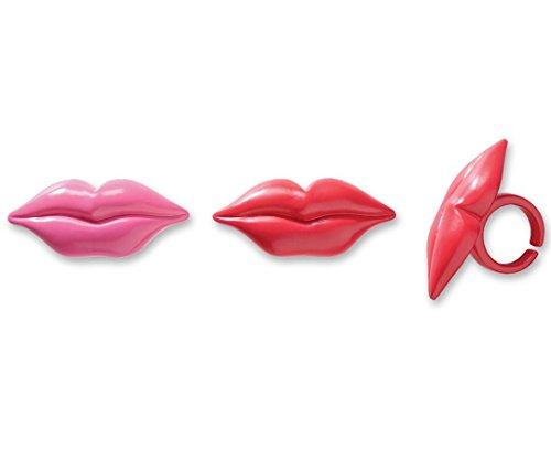 DecoPac Luscious Lips Cupcake Rings (12 Count)