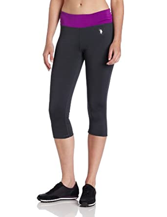 U.S. Polo Assn. Women's Stretch Capri Pant, Altitude Purple, Large