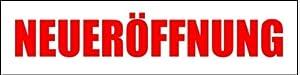 Werbeplane Neueröffnung - 300cmx100cm - Plane Banner Gerüstplane