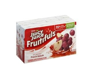 Juicy Juice Fruitifuls All Natural , Punch Splash, 8-Count 6.75-Ounce Boxes - Pack Of 4 - Total 32 Boxes front-501883