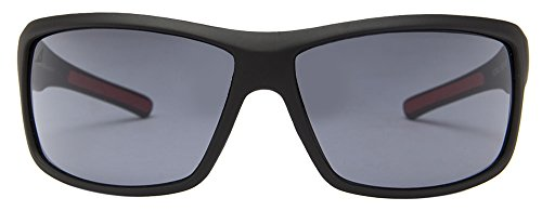 Vincent Chase Air VC 3944 Matte Black Red Grey C1 Sports Sunglasses (102870)