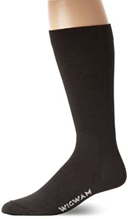 Wigwam Men's Snow Whisper Pro Ski Socks, Black, Medium