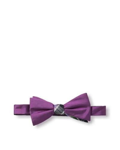 Ben Sherman Men's Reversible Pre-Tied Solid Bow Tie, Berry