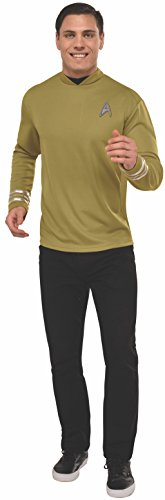 Rubie's Men's Star Trek: Beyond Captain Kirk Deluxe Costume Shirt, Gold, X-Large