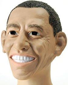 [American President Barack Obama Rubber Face Mask Fancy Dress by Bristol Novelties] (Barack Obama Face Mask)
