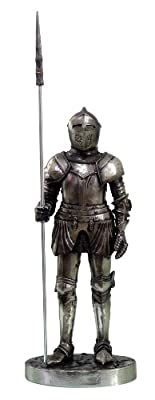 """Medieval Knight 7"""" Tall Phalanx Infantry Statue Figurine Suit Of Armor"""