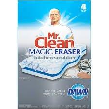 mr clean magic eraser kitchen scrubber with. Black Bedroom Furniture Sets. Home Design Ideas